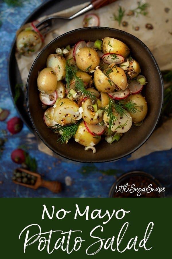 Mustard Vinaigrette Potato Salad #potatosalad #nomayo #nomoayopotatosalad #mustardpotatosalad #mayofree #mayofreepotatosalad