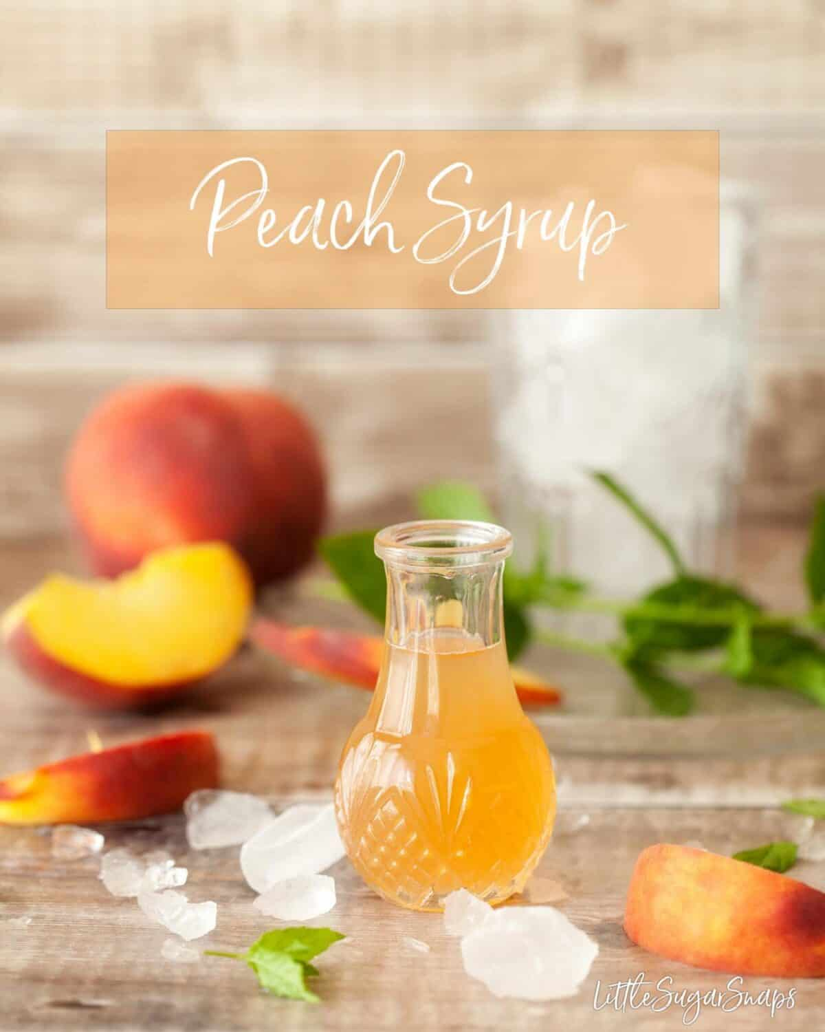 Peach syrup - fresh peaches make this syrup ideal for diluting with still or sparkling water or lemonade or adding to cocktails #peachsyrup #peach #fruitsyrup