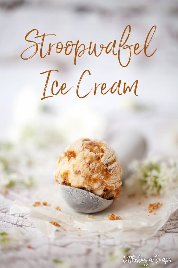 Stroopwafel Ice Cream comes fully loaded with hints of bourbon, a river of caramel sauce and chunks of stroopwafel throughout. One of life's pleasures #stroopwafelicecream #stroopwafel #bourbonicecream #icecreamrecipe