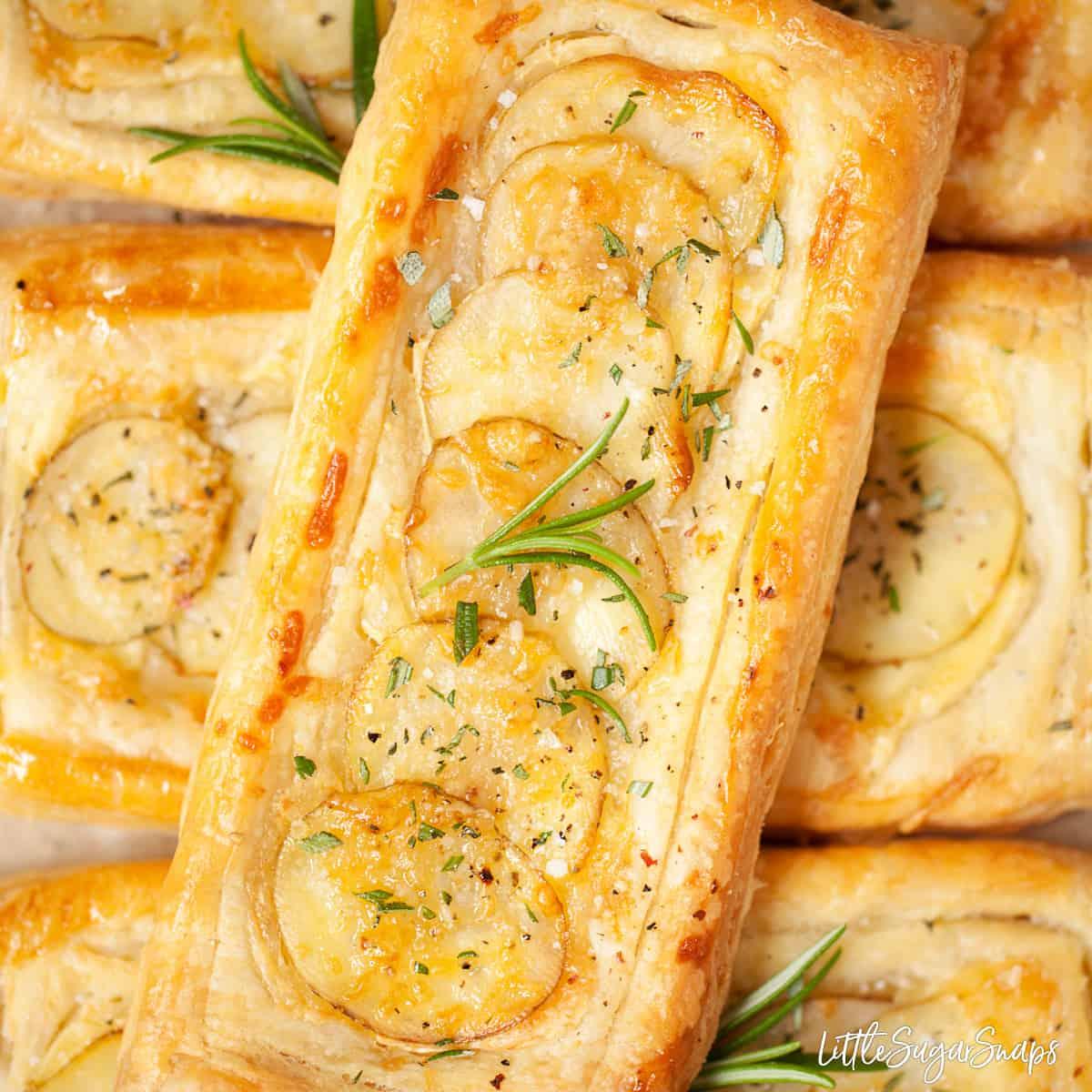Brie and Potato tarts