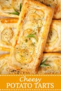 Brie & Potato Tarts - pinterest image