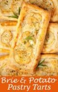 Brie and Potato tarts - pinterest image