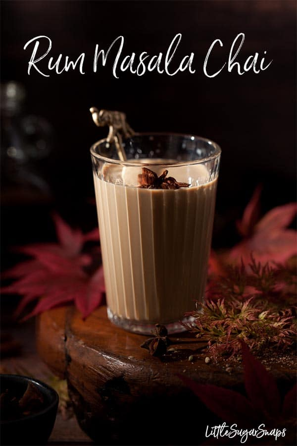 Rum Masala Chai is a deeply comforting drink. Sweet spiced tea and just a hint of alcohol make this drink a great winter warmer. Can be served alcohol free too. #rummasalachai #boozymasalachai #masalachai #spicedtea #bourbonmasalachai.