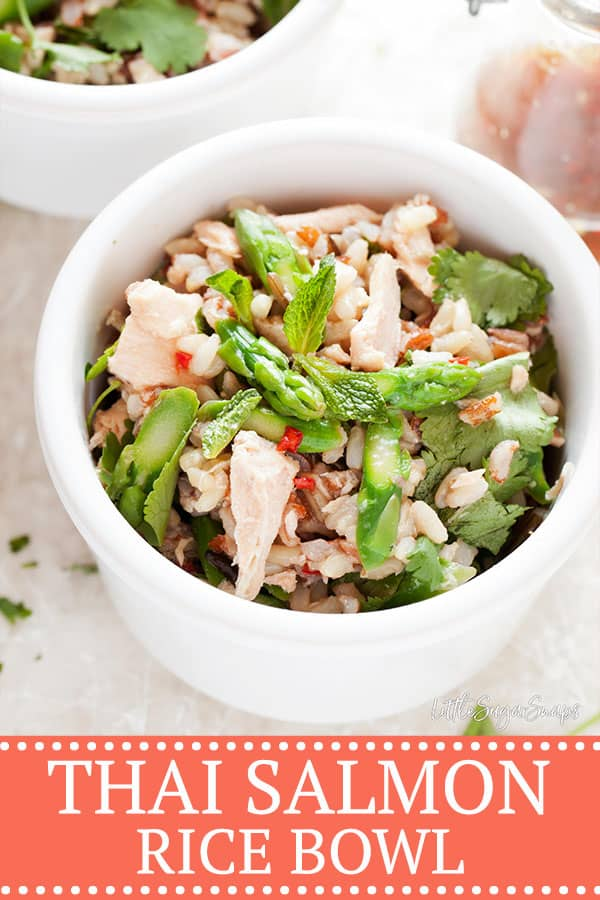 Easy Salmon and Rice Bowls with Thai Dressing