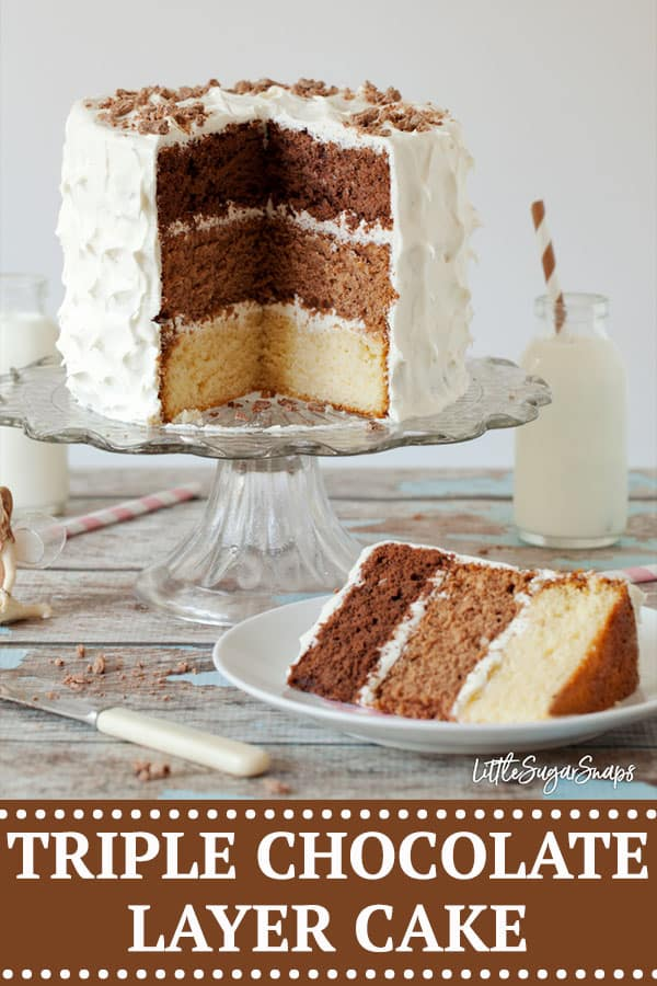 Triple Chocolate Layer Cake - image for pinterest