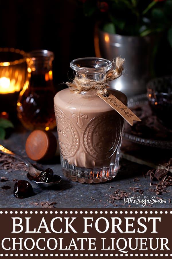 BLACK FOREST CHOCOLATE LIQUEUR - pinterest image