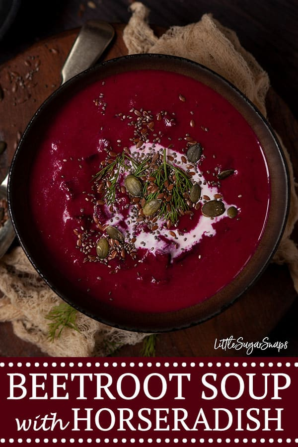 Beetroot and Horseradish Soup - pinterest image