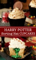 Harry Potter Sorting Hat Cupcakes - pinterest image
