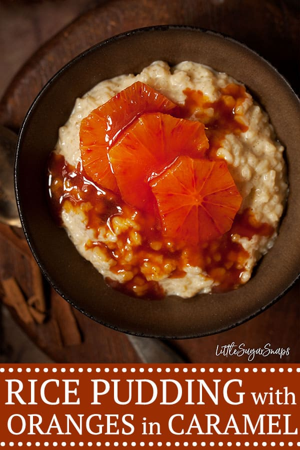 Quick Stovetop Rice Pudding with Oranges in Caramel