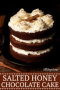 SALTED HONEY CHOCOLATE CAKE - image for pinterest