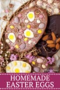 homemade easter eggs - pinterest image