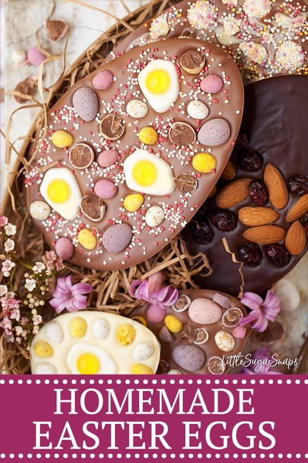 homemade easter eggs - pinterest image