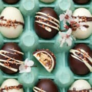 Homemade Easter Eggs with Caramel Shortbread