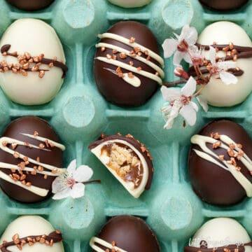 Homemade Easter Eggs with Caramel Shortbread
