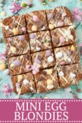 Easter Blondies with mini eggs - image for pinterest