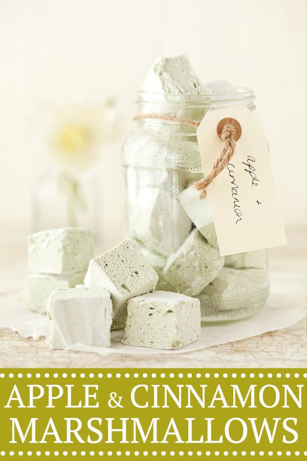 Apple and cinnamon marshmallows - pinterest image