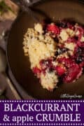 BLACKCURRANT CRUMBLE WITH APPLE