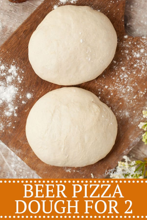 Beer Pizza Dough (Small Batch) - Pinterest image