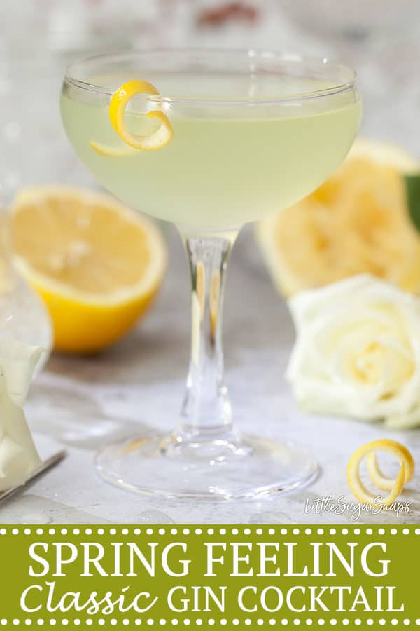 SPRING FEELING COCKTAIL Pinterest image