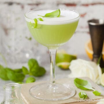 Basil Gin Green Chartreuse Cocktail - featured image