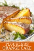 FLOURLESS Semolina Cake with Orange Drizzle - Pinterest image