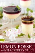 Lemon Posset with Blackberry Sauce