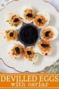 Caviar Devilled Eggs - pinterest image
