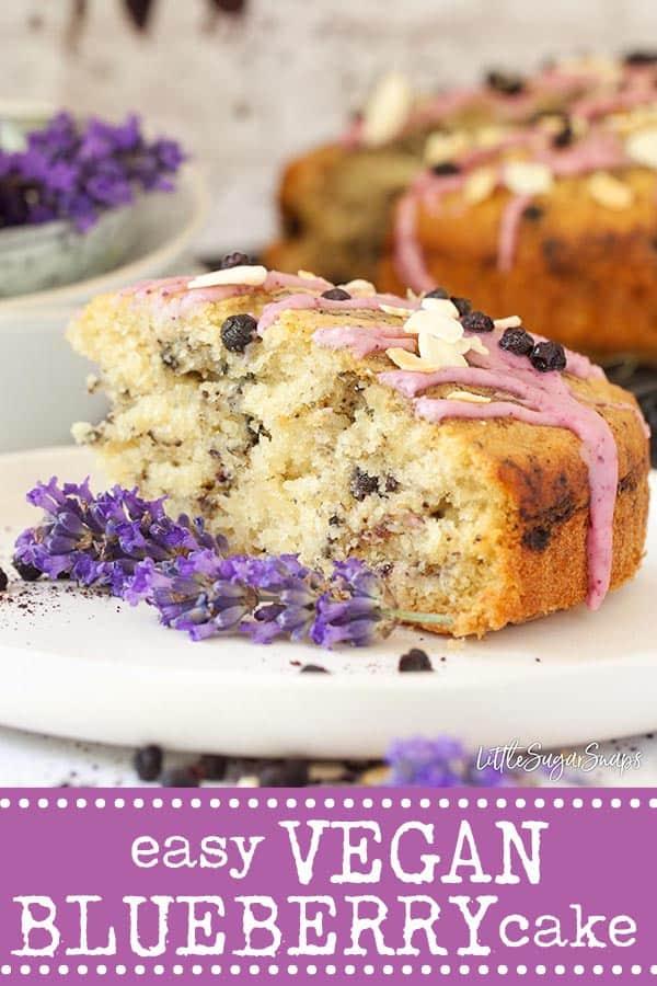 Vegan Blueberry Cake - pinterest image