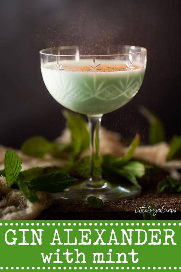 Mint Gin Alexander Cocktail - image for pinterest