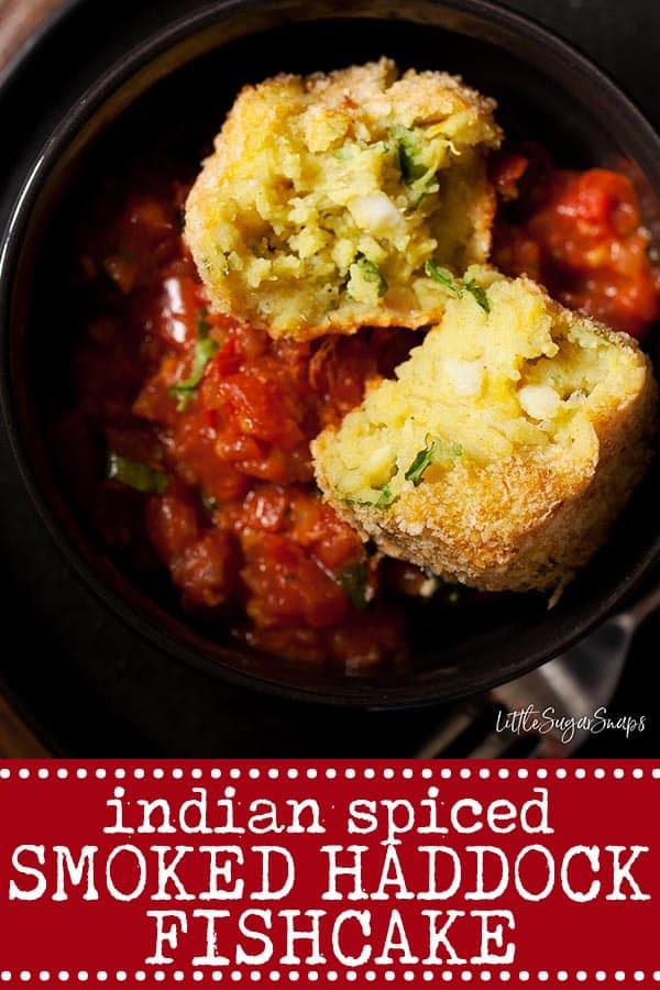 Indian Spiced Smoked Haddock Fishcake - Pinterest image