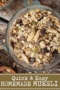 A bowl of muesli with text overlay