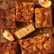 Spiced Apple Traybake Cake - featured image