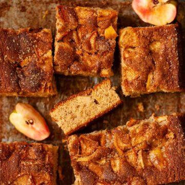 Spiced Apple Traybake Cake - featured image