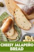 Cheesy Jalapeño Bread with text overlay