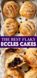 Eccles cakes image collage with text overlay
