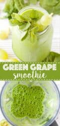 Green Grape Smoothie with text overlay