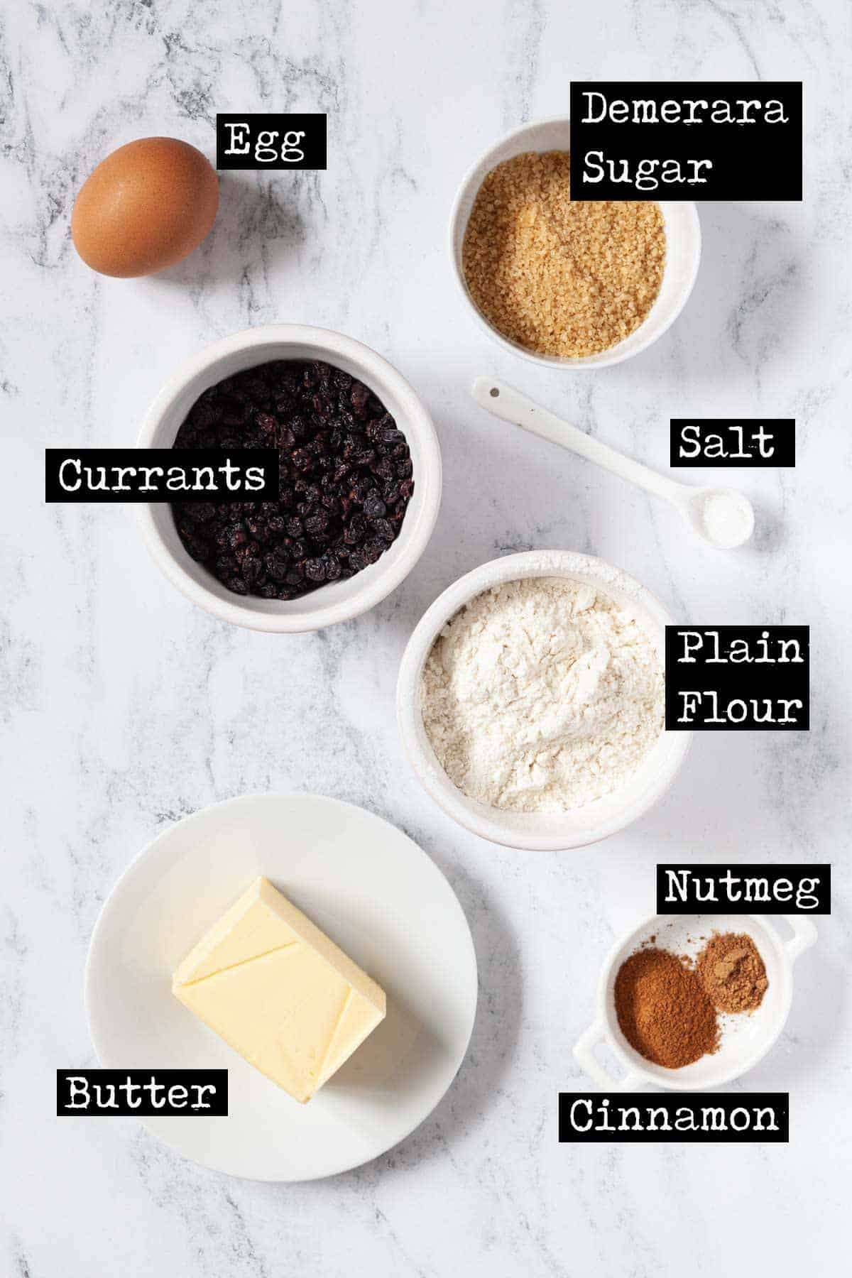 Ingredients for Eccles Cakes