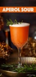 Aperol sour image with text overlay