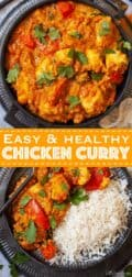 chicken curry with text overlay