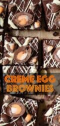 creme egg bornwies with text overlay