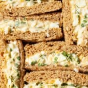 Close up of egg mayo sandwiches - featured image