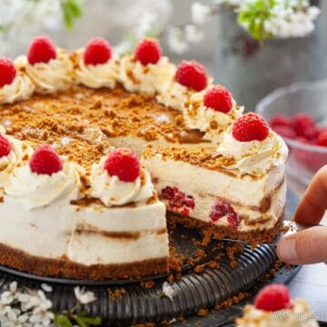 Biscoff cheesecake - featured image
