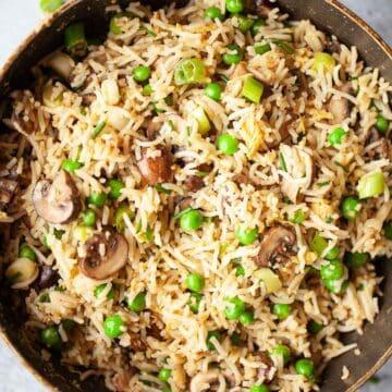 Mushroom fried rice - featured image
