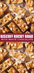 Biscoff rocky road with text overlay