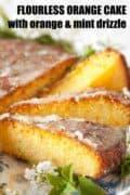 orange semolina cake with text overlay