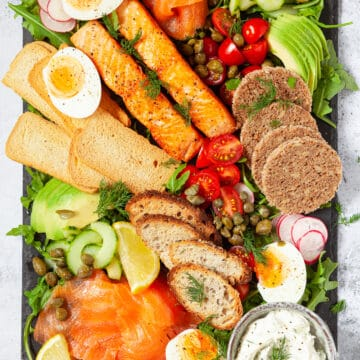 Salmon and Egg platter for breakfast - featured image